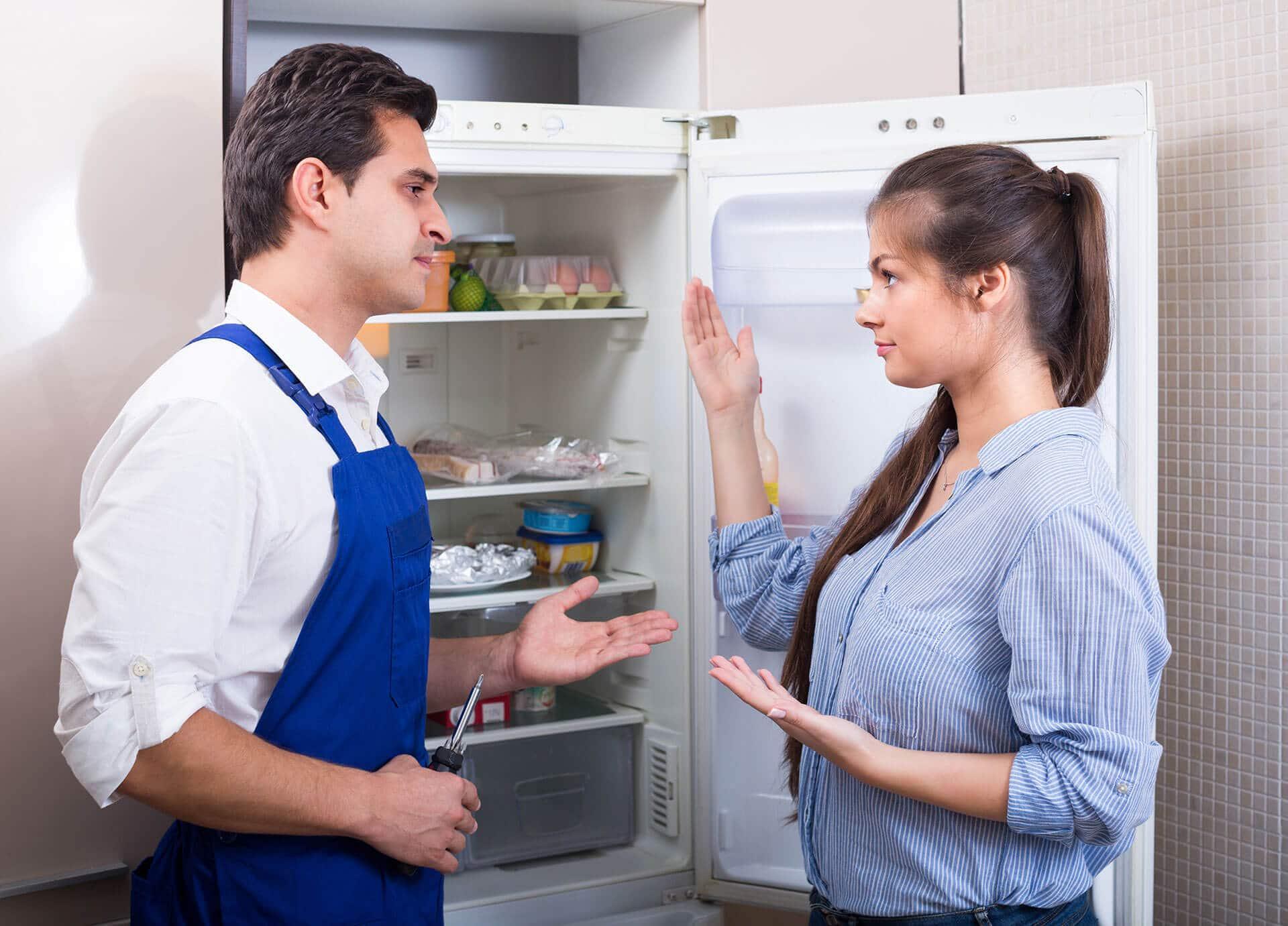 Refrigerator repair.